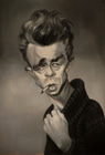 James Dean ( Colored pencil on paper 30 x 40 cm - year: 2001 )