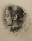 Profile a girl ( pencil on paper 30 x 40 cm - year: 2003 )