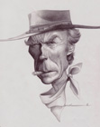 Clint Eastwood ( pencil on paper 30 x 40 cm - year: 2001 )