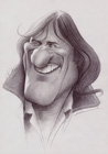 Gerard Depardieu ( pencil on paper 30 x 40 cm - year: 2001 )
