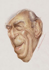 Anthony Quinn ( Colored pencil on paper 30 x 40 cm - year: 2001 )