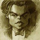 Leonardo Decaprio ( pencil on paper 10 x 10 cm - year: 2003 )