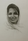 Portrait of young woman ( pencil on paper 34 x 50 cm - year: 2006 )