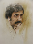 Portrait of Morteza Katouzian ( Colored pencil on paper 36 x 47.5 cm - year: 2000 )